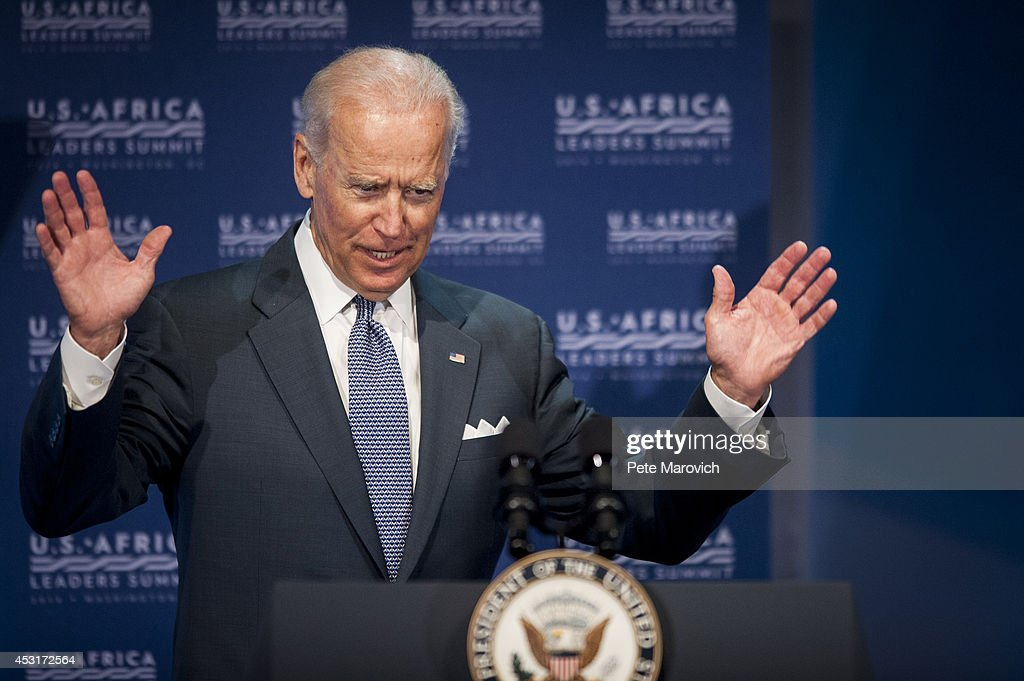 U.S. Vice President Joe Biden speaks at the Civil Society Forum at the National Academy of Sciences as part of the first U.S.-Africa Leaders Summit on August 4, 2014 in Washington, DC. The event is set to promote business relationships between the United States and African countries during the first-ever leaders summit, where 49 heads of state will be meeting in Washington over the next three days.