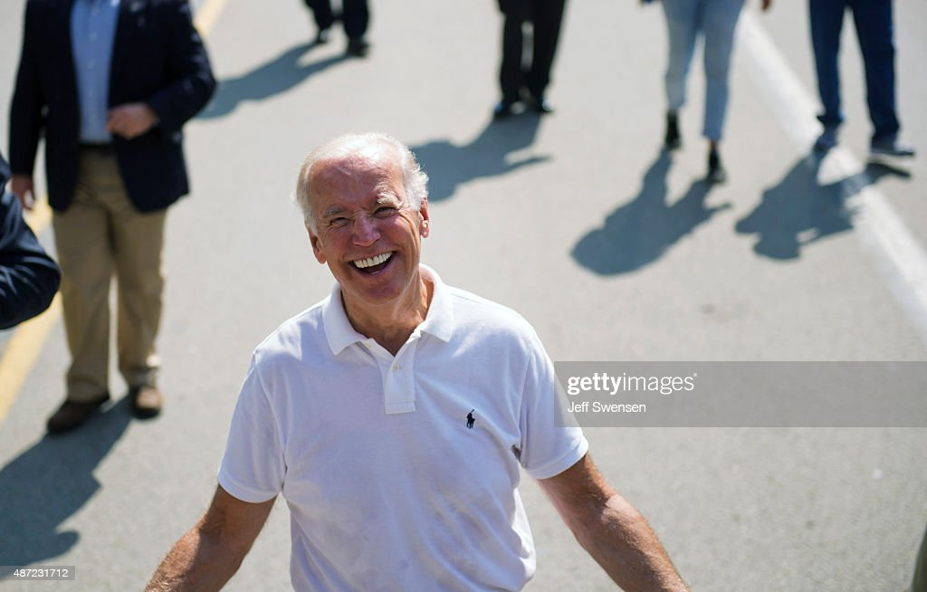 U.S. Vice President Joe Biden walks in the annual Allegheny County Labor Day Parade Monday September 7, 2015 in Pittsburgh, Pennsylvania. Biden has been subject of speculation about whether he will run for the U.S. presidency.