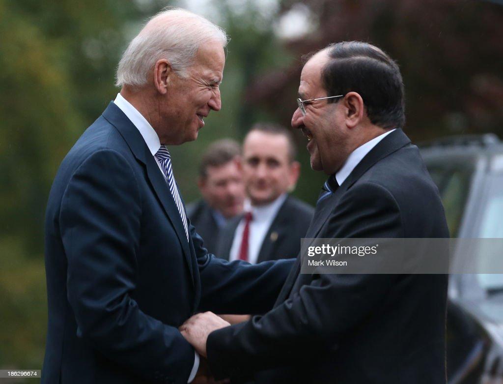 Vice President Biden Hosts Iraqi Prime Minister Maliki At The Naval Observatory
