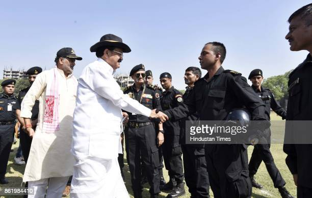Vice President M Venkaiah Naidu during a function to celebrate the 33rd NSG Raising Day at Manesar campus on October 16 2017 in Gurgaon India The...