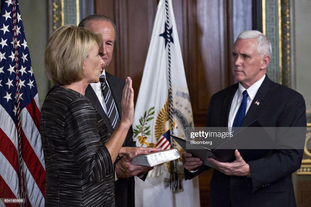 Vice President Pence Swears In Betsy DeVos As Education Secretary
