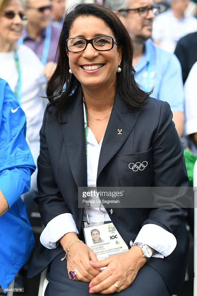 Vice President, Nawal El Moutawakel attends Brazilian team for the 2016 Rio Olympics official welcome and flag raising ceremony in the Athletes Village on July 31, 2016 in Rio de Janeiro, Brazil.