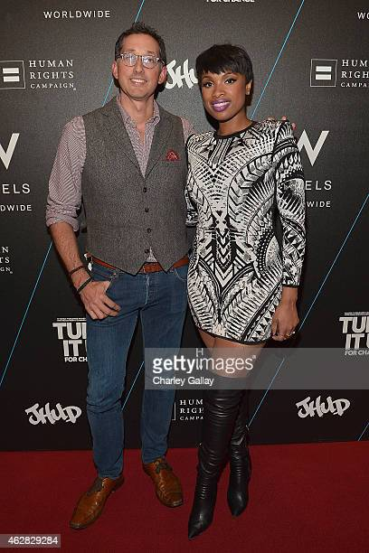 Vice President North America Brand Management W Hotels Anthony Ingham and Jennifer Hudson attend W Hotels TURN IT UP FOR CHANGE Ball To Benefit HRC...