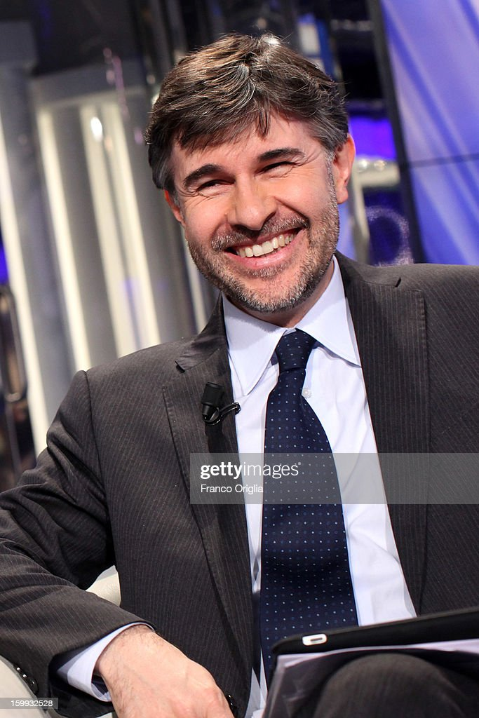 Vice President of 'ACLI' and candidate for the Mario Monti's coalition Andrea Olivero attends 'Porta A Porta' TV Show on January 23, 2013 in Rome, Italy. National Elections in Italy are scheduled for February 24.
