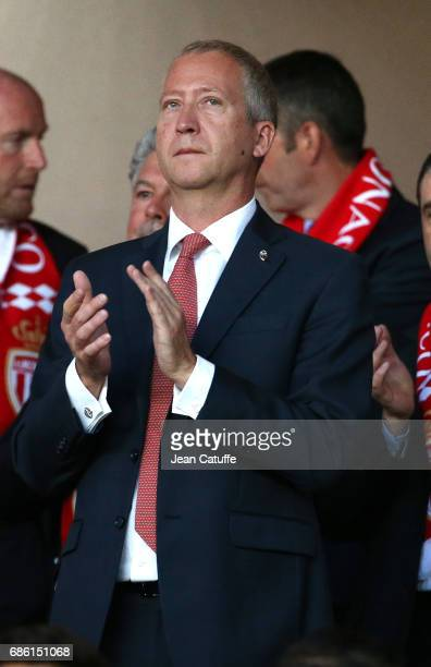 Vice President of AS Monaco Vadim Vasilyev attends the French Ligue 1 match between AS Monaco and AS SaintEtienne at Stade Louis II on May 17 2017 in...