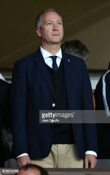 Vice President of AS Monaco Vadim Vasilyev attends the UEFA Champions League semi final first leg match between AS Monaco and Juventus Turin at Stade...