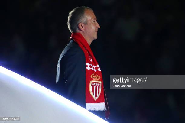Vice President of AS Monaco Vadim Vasilyev during the French League 1 Championship title celebration following the French Ligue 1 match between AS...