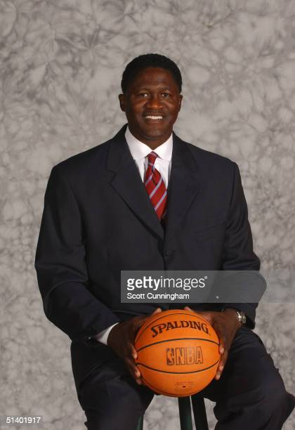 Vice President of Basketball Dominique Wilkins of the Atlanta Hawks poses for a portrait during NBA Media Day on October 4 2004 at Philips Arena in...
