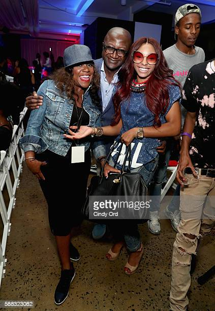 Vice President of Design and UX Maureen Carter EVP and Chief Digital Officer of BET Kay Madati and Jamila Mustafa attend the BET How To Rock Denim...
