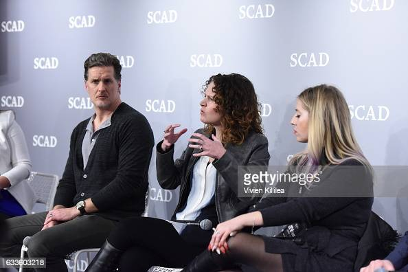 "Vice president of Discovery Communications Winona Meringolo speaks on stage during QA for ""Solving the Mystery"" during Day One of the aTVfest 2017..."