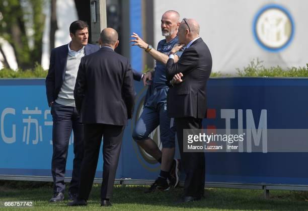 Vice President of FC Internazionale Milano Javier Zanetti Sportif Director of FC Internazionale Milano Piero Ausilio FC Internazionale Milano coach...