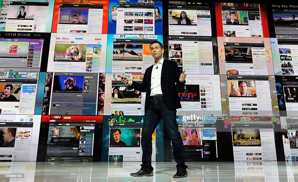 Vice President of Global Content Partnerships at YouTube Robert Kyncl speaks during the Entertainment Matters keynote address at the 2012 International Consumer Electronics Show at the Las Vegas Hotel & Casino January 12, 2012 in Las Vegas, Nevada. CES, the world's largest annual consumer technology trade show, runs through January 13 and features more than 3,100 exhibitors showing off their latest products and services to about 140,000 attendees.