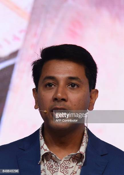 Vice President of Google's 'Next Billion Users' Caesar Sengupta speaks during the launch of the Google 'Tez' mobile app for digital payments in New...
