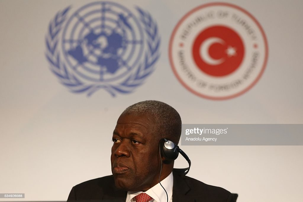 Vice President of Liberia Joseph Boakai takes part in the Round-table 3 under the theme ''Human and social development; and good governance at all levels'' within the Midterm Review of the Istanbul Programme of Action at Titanic Hotel in Antalya, Turkey on May 28, 2016. The Midterm Review conference for the Istanbul Programme of Action for the Least Developed Countries takes place in Antalya, Turkey from 27-29 May 2016.