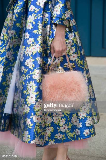 Vice President of Mayfair jewels and co founder of Station Head Lauren Kulchinsky Levison wears a Delpozo jacket and a Dolce and Gabbana bag day 2 of...