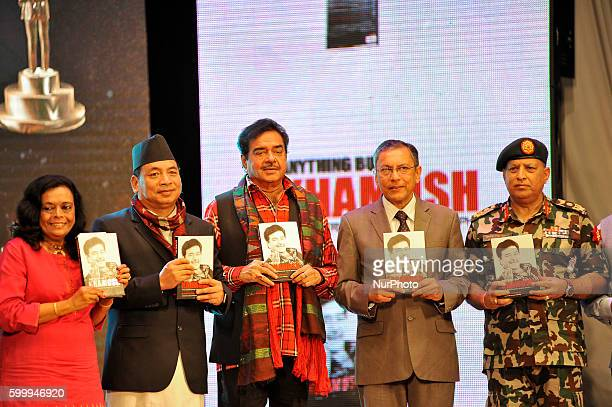 Vice President of Nepal Nanda Kishor Pun Bollywood actor Shatrughan Sinha Ambassador of India to Nepal Ranjit Rae and Lieutenant General Baldev Raj...
