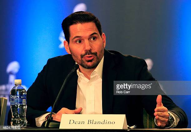 Vice President of Officiating Dean Blandino attends the Super Bowl XLIX Football Operations Press Conference on January 29 2015 in Phoenix Arizona