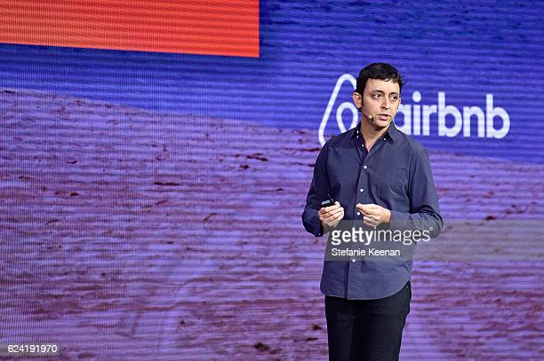 Vice President of Product at Airbnb Joe Zadeh speaks onstage during Beyond the Home The Future of Airbnb at The Orpheum Theatre during Airbnb Open LA...