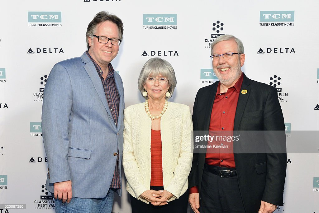 Vice President of Studio Production at TCM Sean Cameron, actress/author Rita Moreno and film critic Leonard Maltin attend 'The King and I' screening during day 3 of the TCM Classic Film Festival 2016 on April 30, 2016 in Los Angeles, California. 25826_005