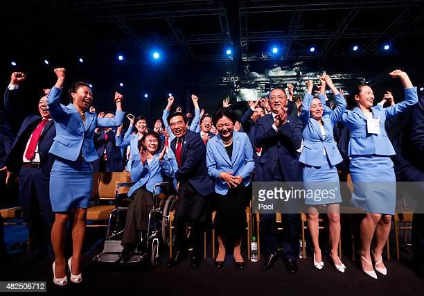 Vice president of the Beijing 2022 Olympic Winter Games Bid Committee Zhang Haidi Mayor of Beijing Wang Anshun China's Vice Premier Liu Yandong...