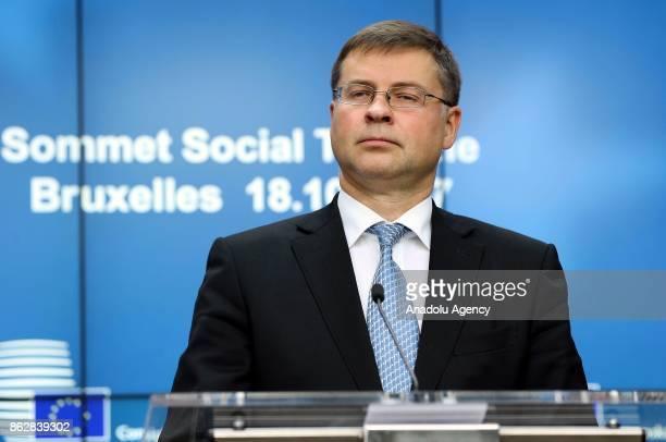 Vice President of the European Commission Valdis Dombrovskis European Trade Union General Secretary Luca Visentini Estonian Prime Minister Juri Ratas...