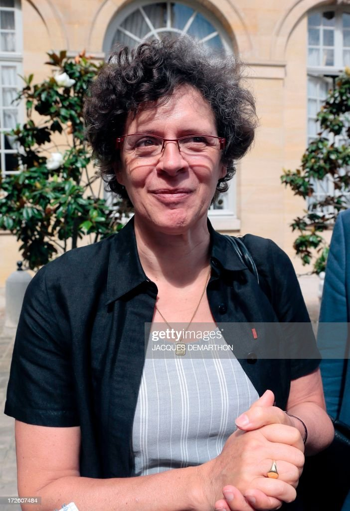 Vice -president of the French General Confederation of Small and Medium-Sized Enterprises (CGPME) union Genvieve Roy is pictured as she leaves the hotel Matignon in Paris on July 4, 2013. French Prime minister Jean-Marc Ayrault today held a series of meetings between government members, employers and workers union representatives focusing on pensions matters.