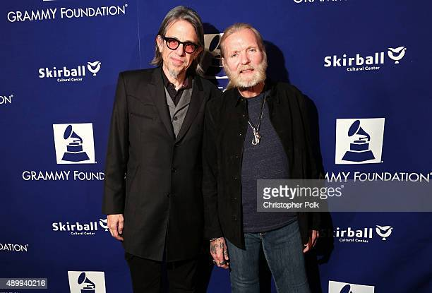 Vice President of the GRAMMY Foundation and MusiCares Scott Goldman and musician Gregg Allman at 'Celebrating Gregg Allman Storytelling And Special...