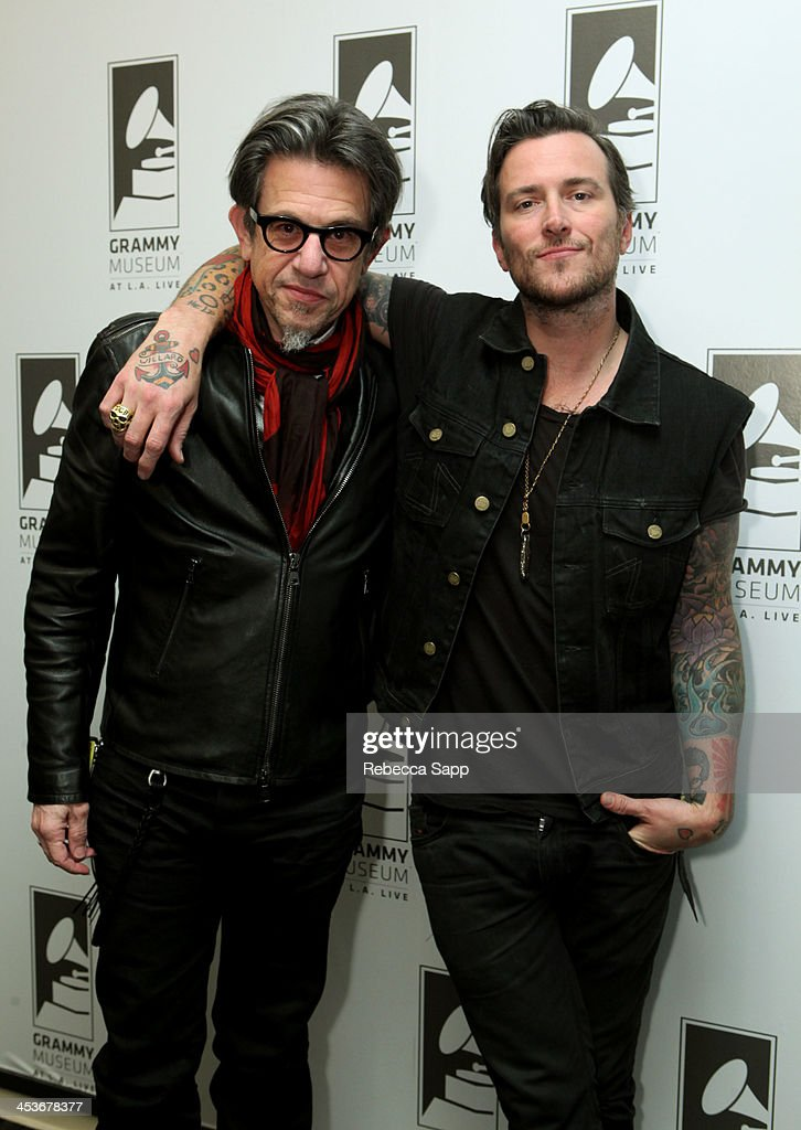 Vice President of the GRAMMY Foundation Scott Goldman and singer/musician <a gi-track='captionPersonalityLinkClicked' href=/galleries/search?phrase=Butch+Walker&family=editorial&specificpeople=2219190 ng-click='$event.stopPropagation()'>Butch Walker</a> at An Evening With <a gi-track='captionPersonalityLinkClicked' href=/galleries/search?phrase=Butch+Walker&family=editorial&specificpeople=2219190 ng-click='$event.stopPropagation()'>Butch Walker</a> at The GRAMMY Museum on December 4, 2013 in Los Angeles, California.