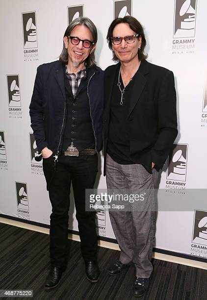 Vice President of the GRAMMY Foundation Scott Goldman and guitarist Steve Vai at Great Guitars A Conversation With Steve Vai at The GRAMMY Museum on...