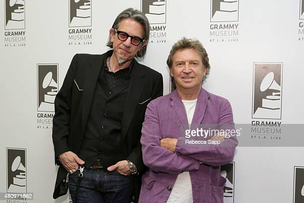 Vice President of the GRAMMY Foundation Scott Goldman and guitarist Andy Summers at Reel to Reel Can't Stand Losing You Surviving The Police at The...