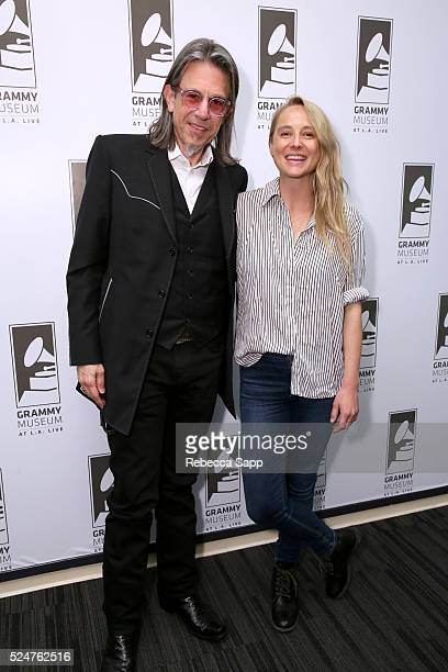 Vice President of the GRAMMY Foundation Scott Goldman and singer/songwriter Lissie attend Spotlight Lissie at The GRAMMY Museum on April 26 2016 in...