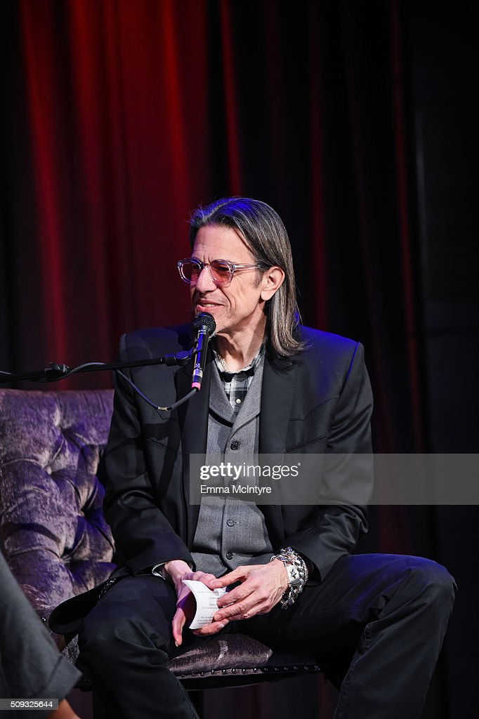 Vice President of the GRAMMY Foundation <a gi-track='captionPersonalityLinkClicked' href=/galleries/search?phrase=Scott+Goldman&family=editorial&specificpeople=2748376 ng-click='$event.stopPropagation()'>Scott Goldman</a> speaks onstage at Icons of the Music Industry at The GRAMMY Museum on February 9, 2016 in Los Angeles, California.