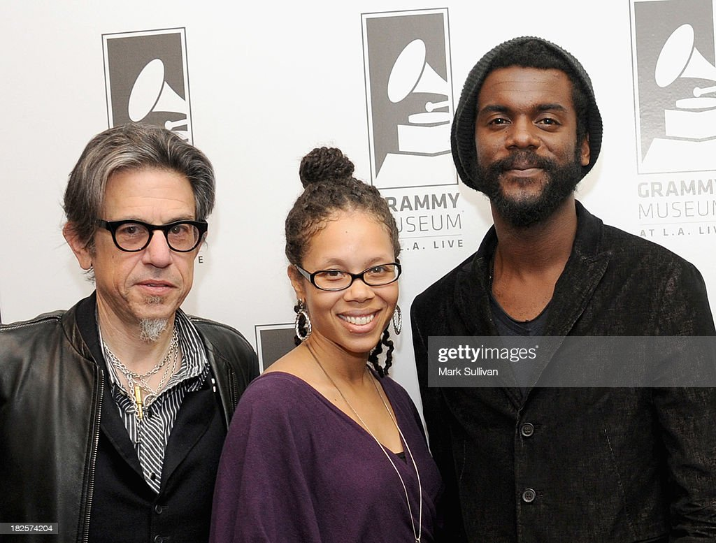 Vice President of the GRAMMY Foundation Scott Goldman, West reginal director of The Recording Academy Kelley Purcell and musician Gary Clark Jr. before An Evening With Gary Clark Jr. at The GRAMMY Museum on September 30, 2013 in Los Angeles, California.