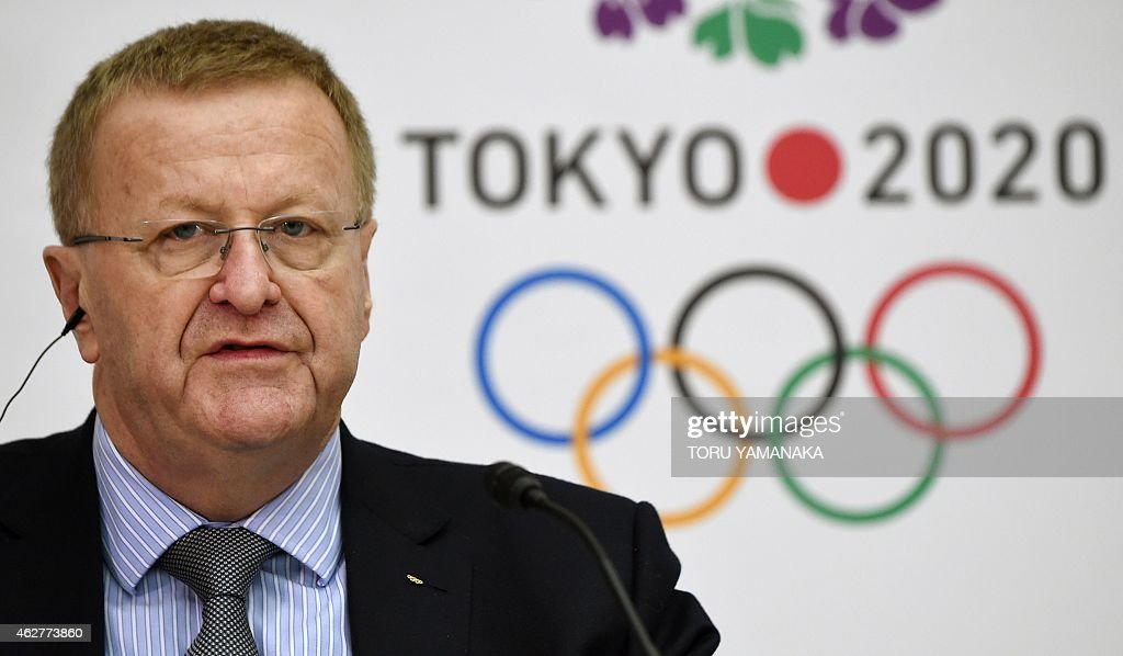 Vice President of the International Olympic Committee (IOC) <a gi-track='captionPersonalityLinkClicked' href=/galleries/search?phrase=John+Coates&family=editorial&specificpeople=233445 ng-click='$event.stopPropagation()'>John Coates</a> answers questions during a joint press conference with President of the Tokyo 2020 Organising Committee Yoshiro Mori (not pictured) in Tokyo on February 5, 2015. The IOC and the Tokyo 2020 held the third project review on Wednesday and Thursday. AFP PHOTO / Toru YAMANAKA