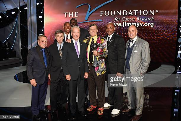 Vice President of the United States Joe Biden presents the Jimmy V Award for Perserverance to honoree Craig Sager onstage during the 2016 ESPYS at...