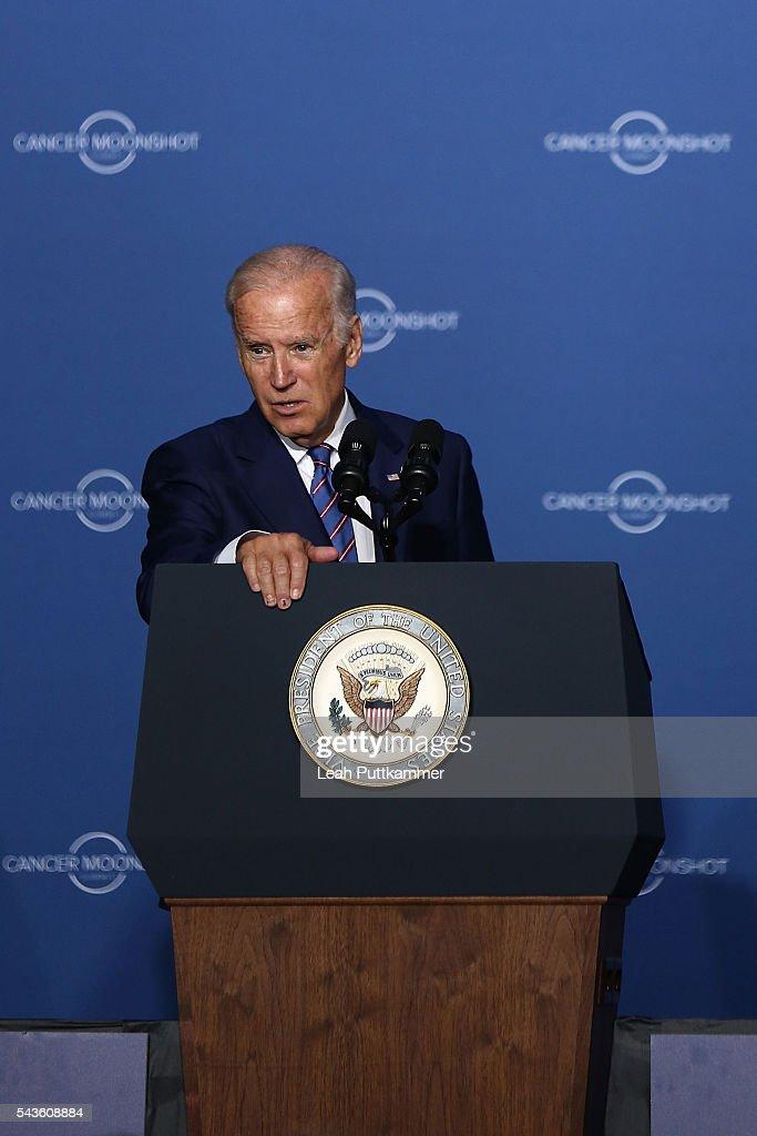 Vice President of the United States Joe Biden speaks at the Cancer Moonshot Summit at Howard University on June 29, 2016 in Washington, DC.