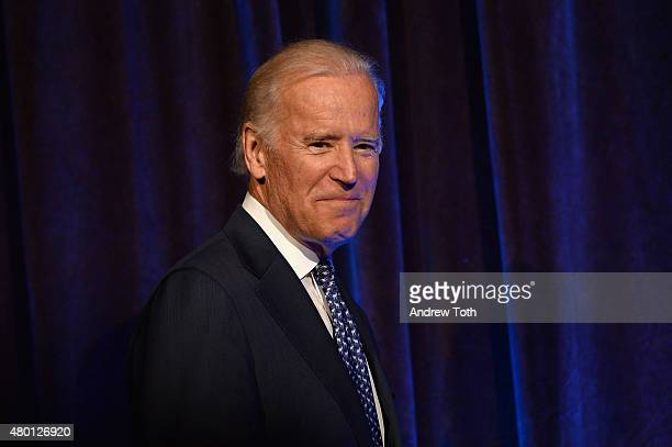 Vice President of the United States Joe Biden speaks during Freedom to Marry Celebration Event at Cipriani Wall Street on July 9 2015 in New York City