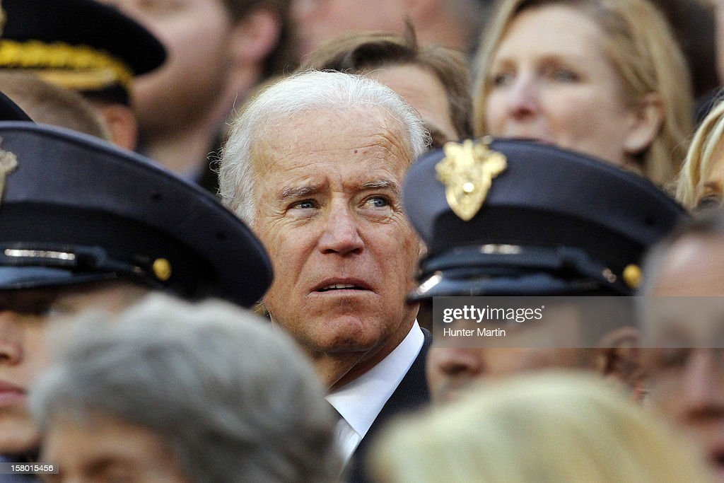Vice President of the United States Joe Biden watches a game between the Army Black Knights and the Navy Midshipman on December 8, 2012 at Lincoln Financial Field in Philadelphia, Pennsylvania. Navy won 17-13.