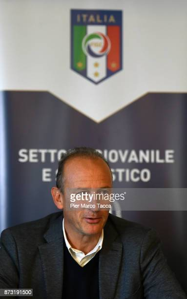 Vice President of the youth and school sector of Figc Roberto Samaden speaks during the Italian Football Federation SGS Meeting at the Ata Hotel on...