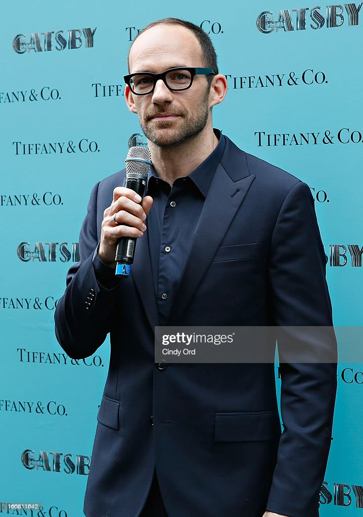 Vice President of Tiffany & Co. Creative Visual Merchandising, Richard Moore speaks during the Great Gatsby Window Unveiling at Tiffany & Co. on April 17, 2013 in New York City.