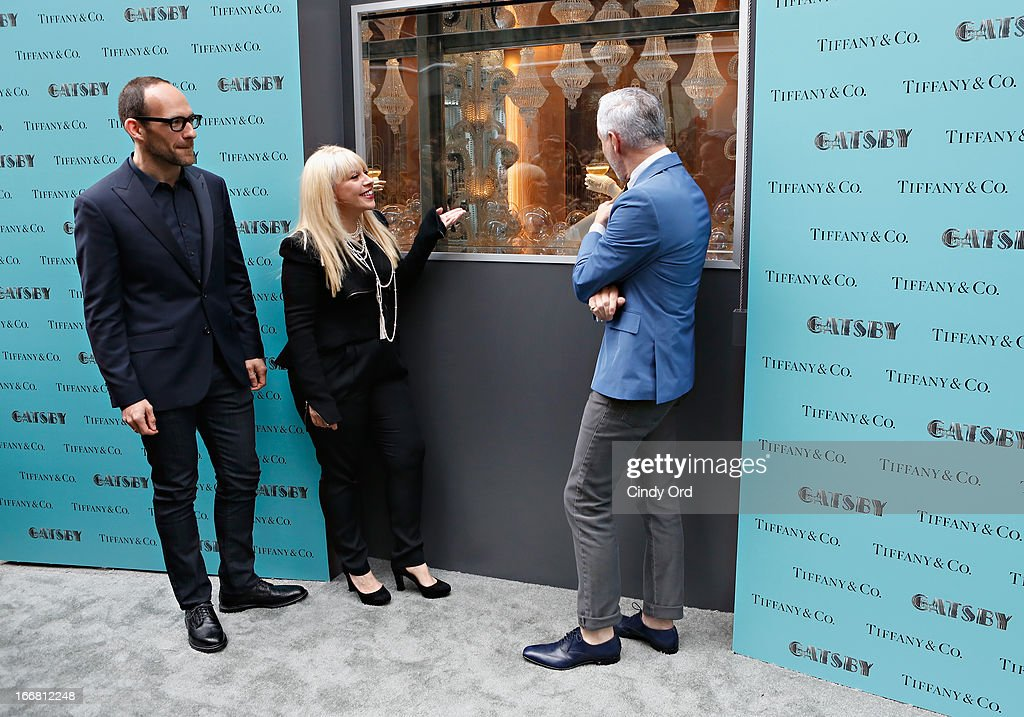 Vice President of Tiffany & Co. Creative Visual Merchandising, Richard Moore, two-time Oscar-winning costume and production designer, <a gi-track='captionPersonalityLinkClicked' href=/galleries/search?phrase=Catherine+Martin&family=editorial&specificpeople=226991 ng-click='$event.stopPropagation()'>Catherine Martin</a> and writer/director/producer <a gi-track='captionPersonalityLinkClicked' href=/galleries/search?phrase=Baz+Luhrmann&family=editorial&specificpeople=209230 ng-click='$event.stopPropagation()'>Baz Luhrmann</a> attend the Great Gatsby Window Unveiling at Tiffany & Co. on April 17, 2013 in New York City.
