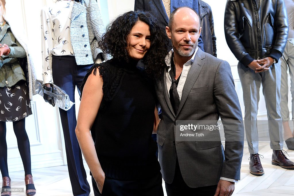 ?Vice President of Women's Design at Gap Inc. and Banana Republic, Sonia Martin (L) and Senior Vice President of Design at Banana Republic, Michael Anderson poses at the Banana Republic Fall 2016 fashion show at Highline Stages on February 13, 2016 in New York City.