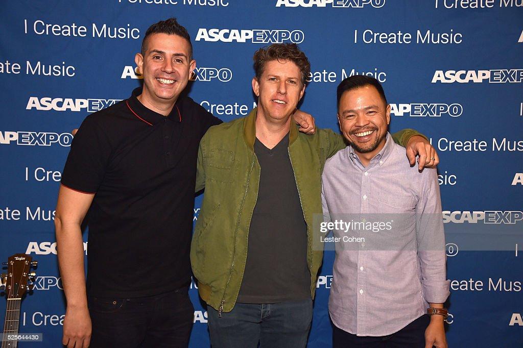 Vice President, Pop/Rock Marc Emert-Hutner, songwriter Greg Kurstin and ASCAP Associate Director, Pop/Rock Membership Ed Reyes attend the 2016 ASCAP 'I Create Music' EXPO on April 28, 2016 in Los Angeles, California.