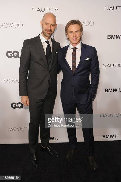 Vice President Publisher at GQ Chris Mitchell and actor Sam Trammell walk the red carpet at the 2013 GQ Gentlemen's Ball presented by BMW i Movado...