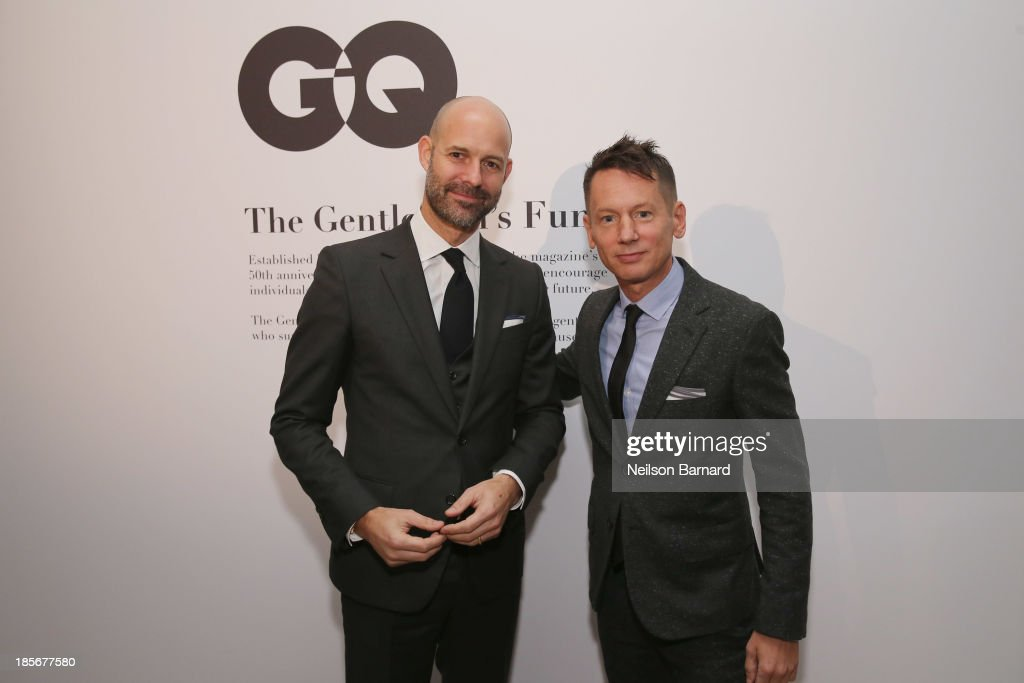 Vice President & Publisher at GQ Chris Mitchell and GQ editor-in-chief <a gi-track='captionPersonalityLinkClicked' href=/galleries/search?phrase=Jim+Nelson+-+Editor&family=editorial&specificpeople=240512 ng-click='$event.stopPropagation()'>Jim Nelson</a> attend the 2013 GQ Gentlemen's Ball presented by BMW i, Movado, and Nautica at IAC Building on October 23, 2013 in New York City.