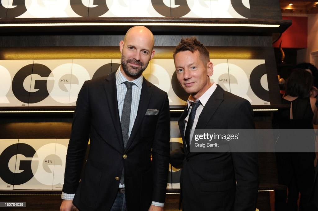 Vice President Publisher at GQ Chris Mitchell and GQ editorinchief Jim Nelson attend Martine and Prosper Assouline host Jim Nelson and Chris Mitchell...