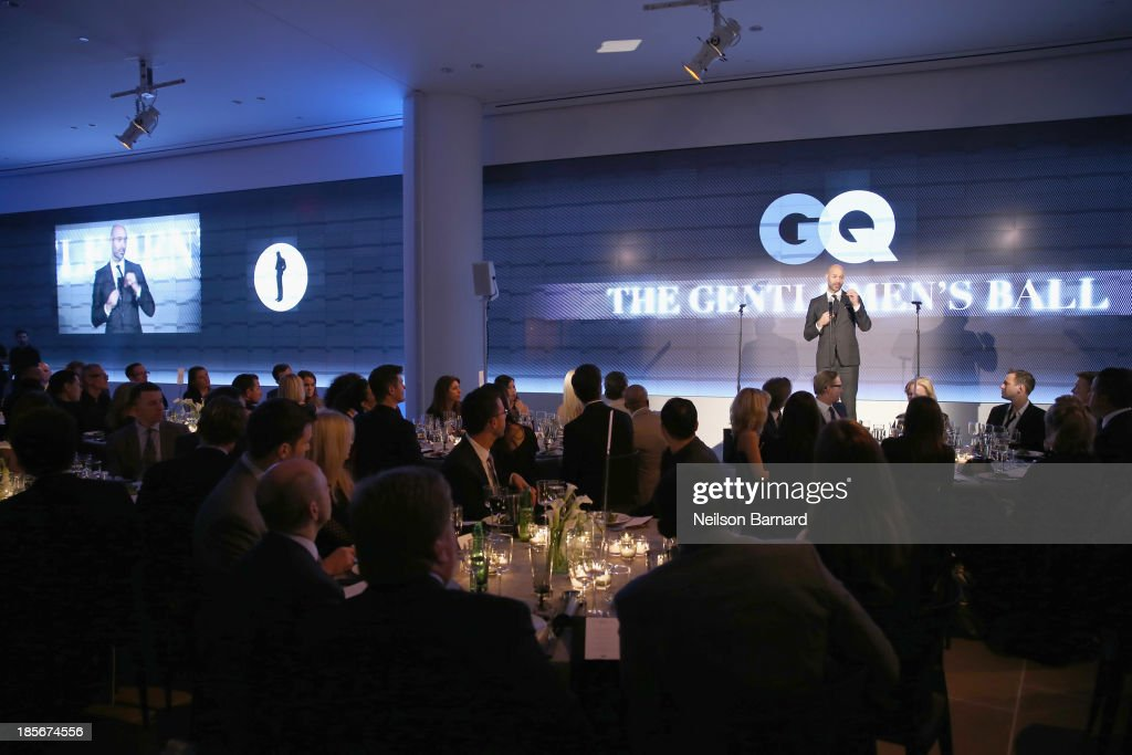 Vice President & Publisher at GQ, Chris Mitchell speaks at the 2013 GQ Gentlemen's Ball presented by BMW i, Movado, and Nautica at IAC Building on October 23, 2013 in New York City.