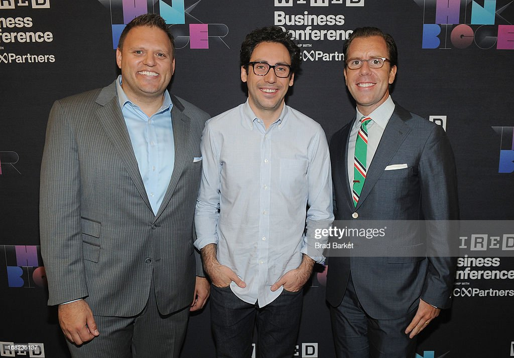 Vice President, Publisher at Wired, Howard Mittman, Neil Blumenthal, and Editor in Chief, Wired Scott Dadich attends the WIRED Business Conference: Think Bigger at Museum of Jewish Heritage on May 7, 2013 in New York City.