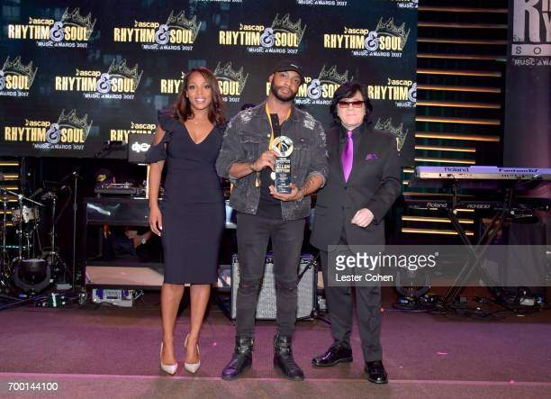 Vice President Rhythm Soul/ Urban Membership ASCAP Nicole GeorgeMiddleton Allen Ritter and EVP/ Membership ASCAP John Titta pose with the Songwriter...
