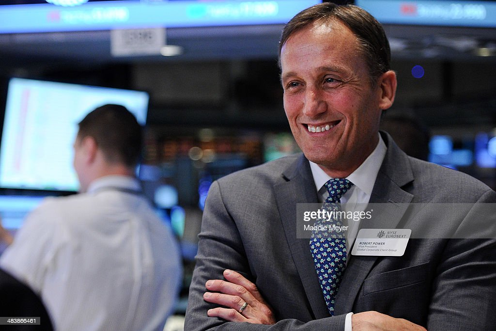Vice President Robert Power looks on from the trading floor at New York Stock Exchange on April 10, 2014 in New York City.